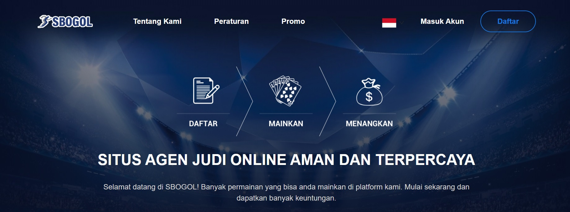 Memainkan Game Judi Bola Online